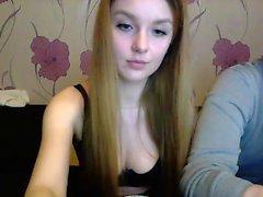 Sweet redhead teen webcam show