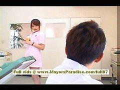 Акихо Yoshizawa сексуальный Азиатского медсестра пользуется дразня к врачу