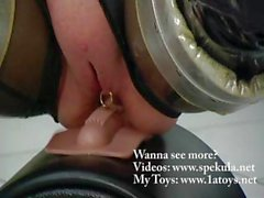 Clips of these latex fetish babes getting nailed by a Sybian