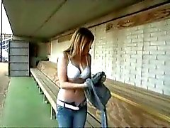 Nude At Baseball Field