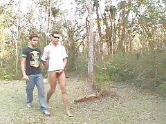 Two latin teens having bareback fun