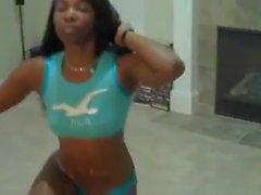 Ebony twerk Ass Dance