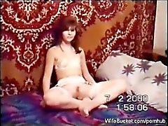 ryskt amatörmässig par som sexfilm