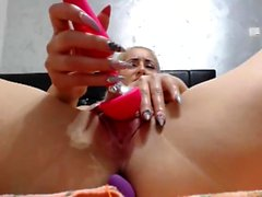 Horny MILF Has Some Kitchen Masturbation Fun with Toys
