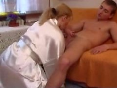 Mature woman and young boy 15
