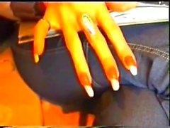 asian sharp nails ripping body blowjob