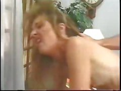 Blonde mature secretary bangs her boss on the desk and sucks his cock
