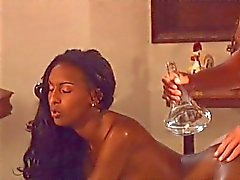 Pretty ebony Bettina Campbell massage and sex