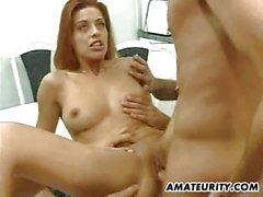 Randy amateur girlfriend homemade hardcore action