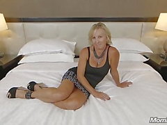 All Natural Big Tits Czech MOM First Porn & Facial Ever POV