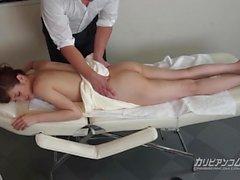 Domestiche riceva una massaggio completo del corpo