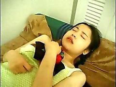 Amateur Japanese girl slurps cock, gets toyed and then fucked