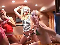 Girly fantasies in special porn bus