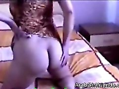 Perv smashes beautiful Arabian hottie in this homemade scene