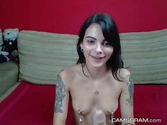 Pretty Good Kinky Camgirl Playing Herself On Webcam