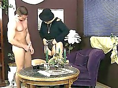 Dirty old slut goes crazy jerking part4