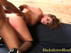 Interracial sucking slut