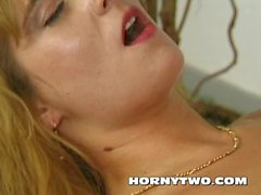 Horny wet Stepmom hunting cum facial from his big cock to