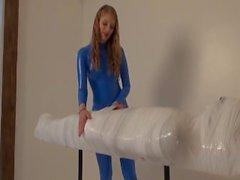 bondage mummification handjob