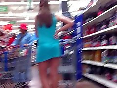 upskirt a girl with blue dress and beautiful body