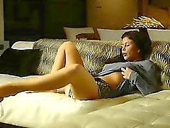 Brunette babe trying to reach orgasm