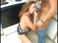 Hot Wife bang hard in the kitchen