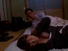 Stunning Japanese wife has a horny man tasting and drilling