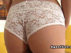Euro fake agent bangs petite model