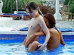 neat pool masturbation of friends