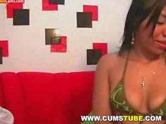 Beautiful Latina Teen Naked on Webcam