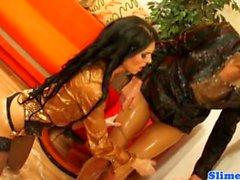Eileen Sue gets wam at bukkake party