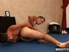 Hot gay submission and cumshot