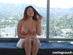 Busty Asian Hei On CastingCouch-HD