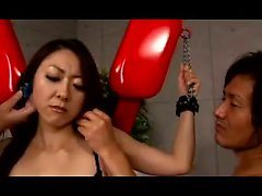 Japanese babe in lingerie gets fingered and toyed by two du