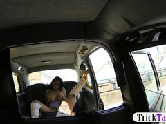 Big titties passenger seduces the driver and fucked her
