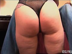 Joslyn James Double Fists The Big Black Cock of John E In