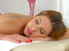 Magic massage by Sapphic Erotica sensual lesbian scene with Ally Breelsen Lydia Lust