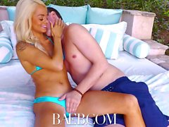 BAEB Submissive blonde spinner Elsa Jean POUNDED