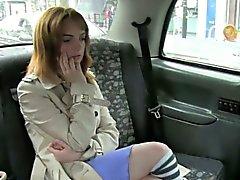 Natürlichen Große Brüste behaart Hobby Knalle auf gefälschte dem Taxi