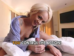Elsa Jean - Cute blonde with tight pussy loves to fuck
