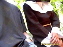 Naughty german nun loves cock