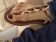 Cum in sexy leopard sandal