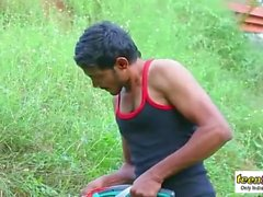Indian girl Mamatha enjoy with servant jungle - teen99 - indian short film