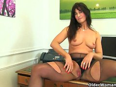 Office milfs Lelani and Raven from the UK