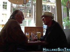 Holländska hoar onanerar