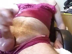Pissing in red Silk Part 2