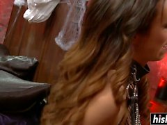 Kinky guy gets to fuck with cute babes