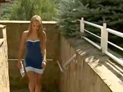 Puffy-Nippled Blonde Pornstar Blue Angel Uses Her Feet a Lot!