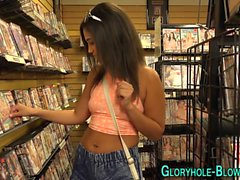 Teen gloryhole creamed