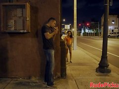 Alluring stranded teen hardfucked in public